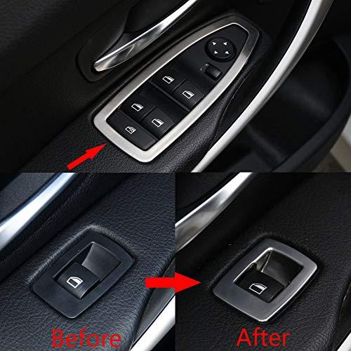 Eiseng 5pcs ABS Chrome Window Lift Button Cover Trim for BMW 3 Series F30 320i 328i 330i 335i F34 3GT Gran Turismo (2013-2015 Model) ()