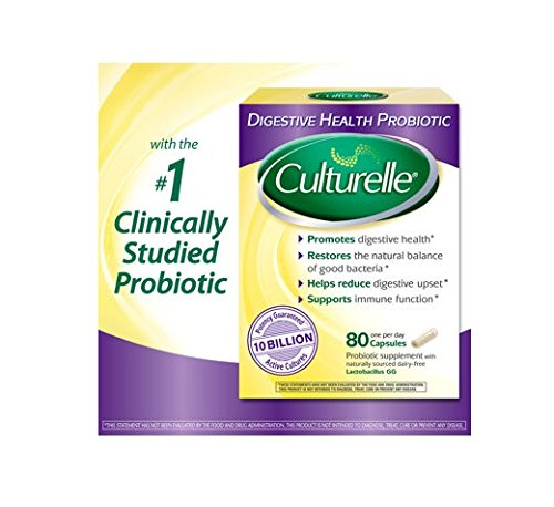 Culturelle Digestive Health Probiotic, 80 Capsules (Pack of 3 (80 caps ea)) by Culturelle