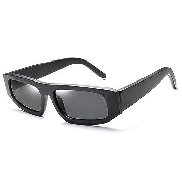 92c528789d Gafas sol Madera de La Personalidad Europea Y Americana Gafas de Bambú  Cuadrada Polarizada de La Cubierta de Los Hombres Gafas de bambú (Color :  Gray): ...