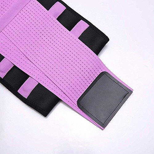 KOOCHY Women's Waist Trainer Belt - Waist Cincher Trimmer - Slimming Body Shaper Belt - Sport Girdle Belt for Weight Loss(Purple,Large) by KOOCHY (Image #6)
