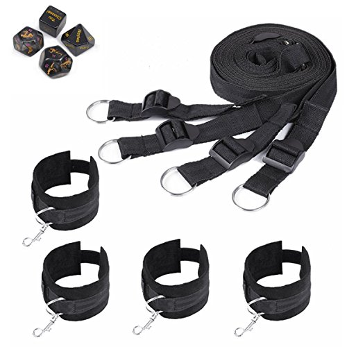 Under Bed Game Bondage and Dice Game Accessories - Black by Health Lodge