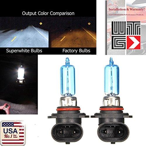 WTG 9005 HB3 1 PAIR 100W Super White Xenon Halogen OEM Headlight Light Bulbs (High Beam)