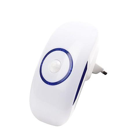 Lámpara nocturna LED Luz con Sensor de Movimiento, Luz de Enchufe Bajo Consumo Iluminación Blanco