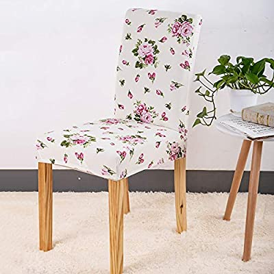 Amazon.com: WQT.JI Spandex Chair Stretch Elastic Dining Seat for ...