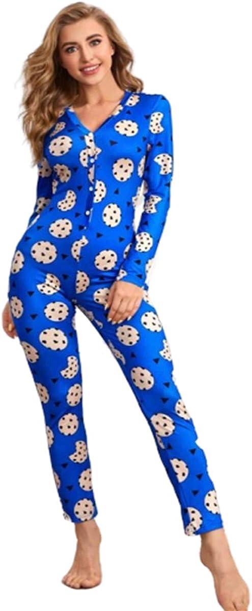 MissShorthair Long Sleeve Onesies Women Sexy, One Piece Deep V Neck Bodycon Onesie Pajamas for Christmas