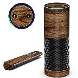 Aretty Woodgrain Wood Vinyl Skin Decal Compatible with Amazon Echo (Rustic Wood)