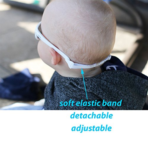 Baby Toddler Polarized Sunglasses With Strap 100% UV Block (M: 2-6Y, Blue) by JAN & JUL (Image #5)