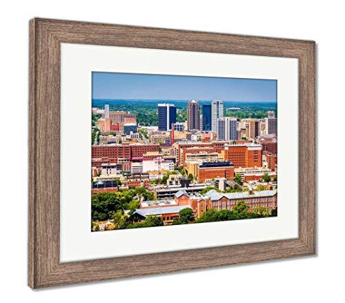 (Ashley Framed Prints Birmingham, Alabama, USA Downtown Skyline from Above at Dusk, Wall Art Home Decoration, Color, 26x30 (Frame Size), Rustic Barn Wood Frame, AG32675561)