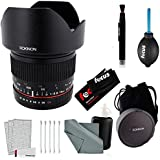 Rokinon 10mm f/2.8 ED AS NCS CS Lens for Canon EF Mount & Accessory Bundle