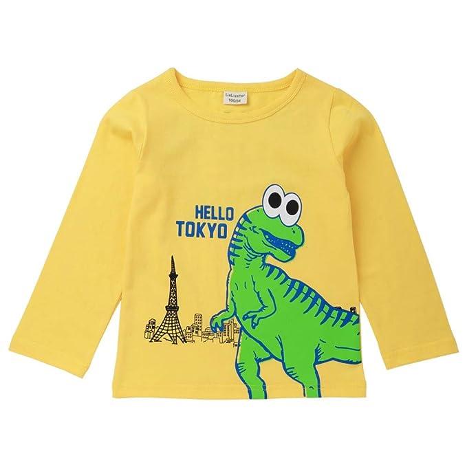 Rawdah_Conjunto Bebe NiñO Invierno Blusas Bebe NiñO Sudaderas Bebe NiñO OtoñO NiñOs NiñOs NiñOs Carta Dinosaurio Imprimir T-Shirt Tops Camisas tee Ropa: ...