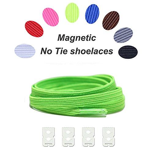 No Tie Shoelaces Elastic expand lacing system Lock clip Shoe laces