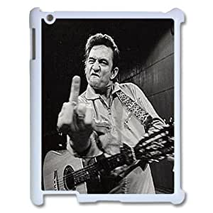 Johnny Cash Design Discount Personalized Hard Case Cover for iPad 2,3,4, Johnny Cash iPad 2,3,4 Cover