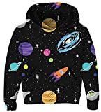 cool costume for kids - UNICOMIDEA Teen Boys Hoodies Long-Sleeves Sweater Tops Novelty Daily Wear Drawstring Pullover with Spaceship 3D Pattern Size XXL