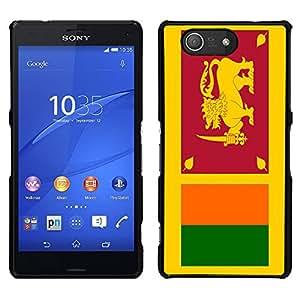 - Flag - - Monedero pared Design Premium cuero del tir¨®n magn¨¦tico delgado del caso de la cubierta pata de ca FOR Sony Xperia m55w Z3 Compact Mini Funny House
