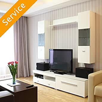 TV Stand or Media Storage Assembly - Entertainment Center ...