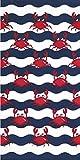 Multi Red Crabs Velour 30x60 Beach/Bath Towel