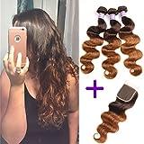 Best Hair Bundles With Laces - Ombre Brazilian Hair Body Wave Ombre Bundles With Review