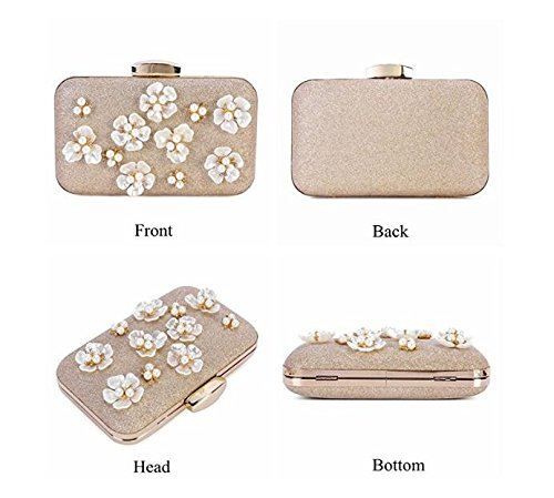 Design Clutch for Beaded Clubs Cross Gold Evening Body Bags Bags Women's Wedding Party Handbag Floral Wedding wxIfP1fq5E