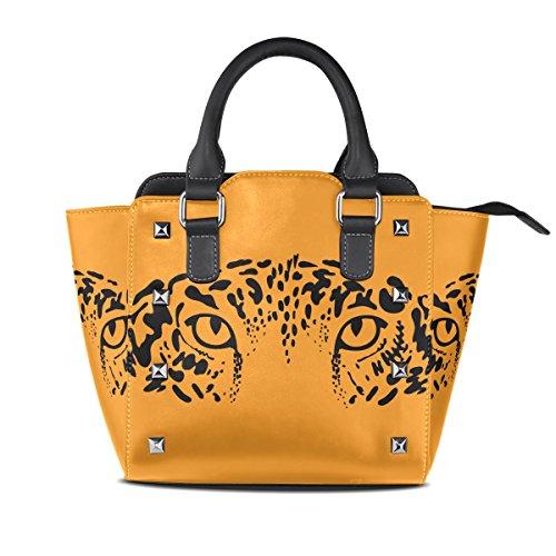 A Coosun Arancione Su Sfondo Jaguar Leopard Women Eyes Borse rYqg8r