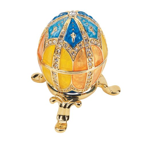 Design Toscano Grand Duchess Faberge-Style Nikolaevna Enameled Egg (Staples Glass Desk)