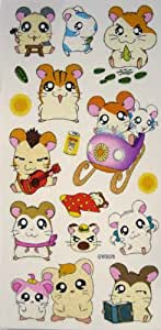 Hamtaro Body Stickers - Hamtaro Temporary Tattoos [Health and Beauty] (tatuajes temporales)