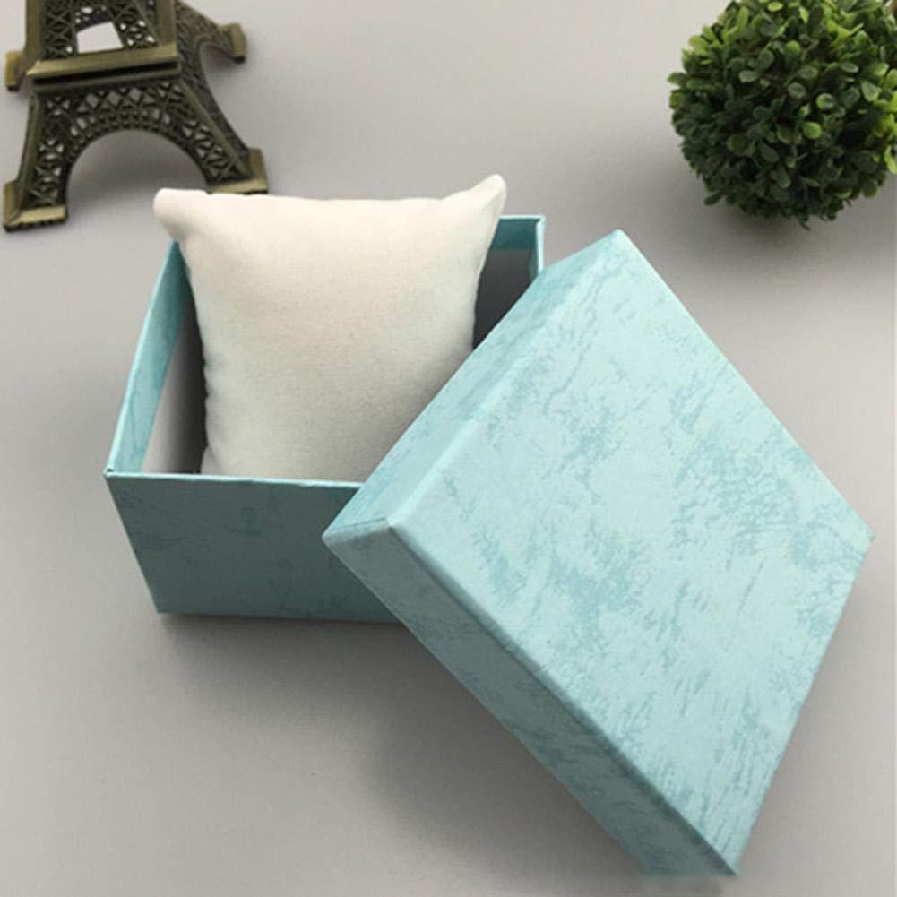 8x8x2,1 cm Easy-topbuy Schmuck Aufbewahrungsbox Langlebig Exquisite Schmuck Aufbewahrungsbox Sch/öne Hochwertige Geschenkbox Uhrenbox Armband Aufbewahrungsbox