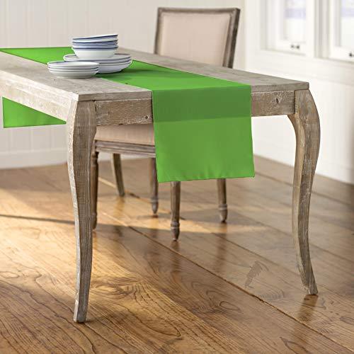 (LA Linen Polyester Poplin Table Runner 14 by 108-Inch, Lime)