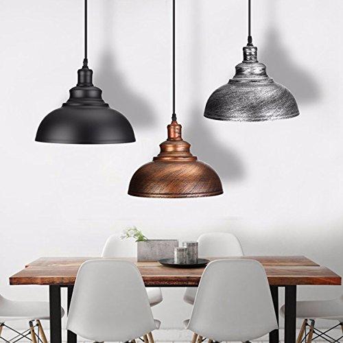 Hitommy Vintage E27 Ceiling Light Pendant Retro Lamp Industrial Loft Iron Chandelier - Bronze