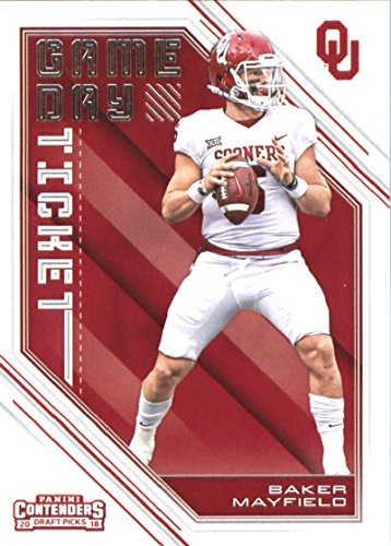 Oklahoma Sooners Collectibles - 2018 Panini Contenders Draft Picks Game Day Tickets #24 Baker Mayfield Oklahoma Sooners Football Card
