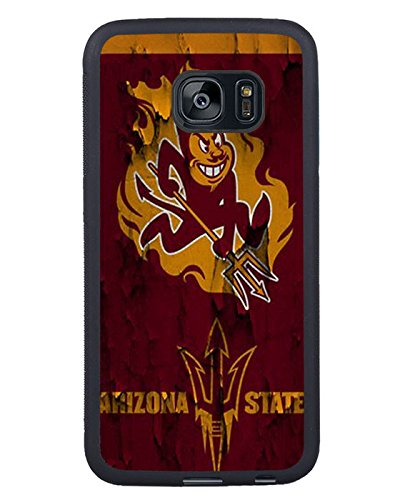 Arizona State Sun Devils Black Shell Phone Case Fit For Samsung Galaxy S7 Edge,Beautiful Cover