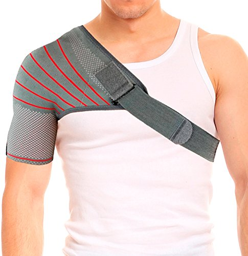 ORTONYX Shoulder Stability Brace Compression Sleeve for Rotator Cuff Support, Injury Prevention, Dislocated AC Joint, Labrum Tear, Frozen Shoulder Pain, Sprain, Soreness, Bursitis/M