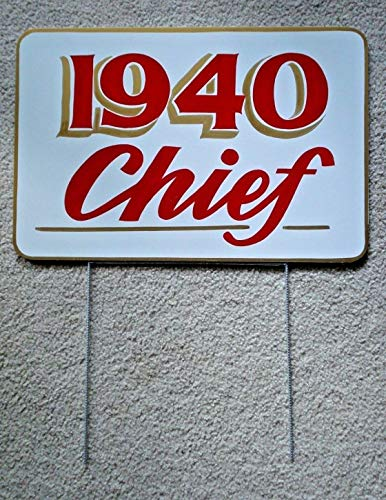 Sign Indian Motorcycle 1940 Chief Display Hand Painted 12x18 w/Stake Outdoor.for Businesses, Individuals and Government Agencies
