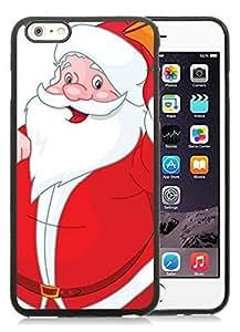 Best Buy Design iPhone 6 Plus Case,Santa Claus Black iPhone 6 Plus 5.5 TPU Case 32