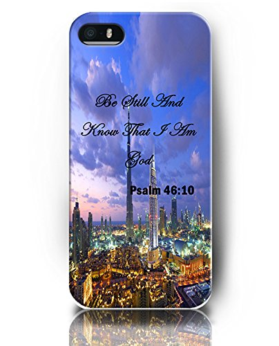 UKASE Phone Cases for iPhone 5 5S, Psalm 46:10 Be Still And Know That I Am God