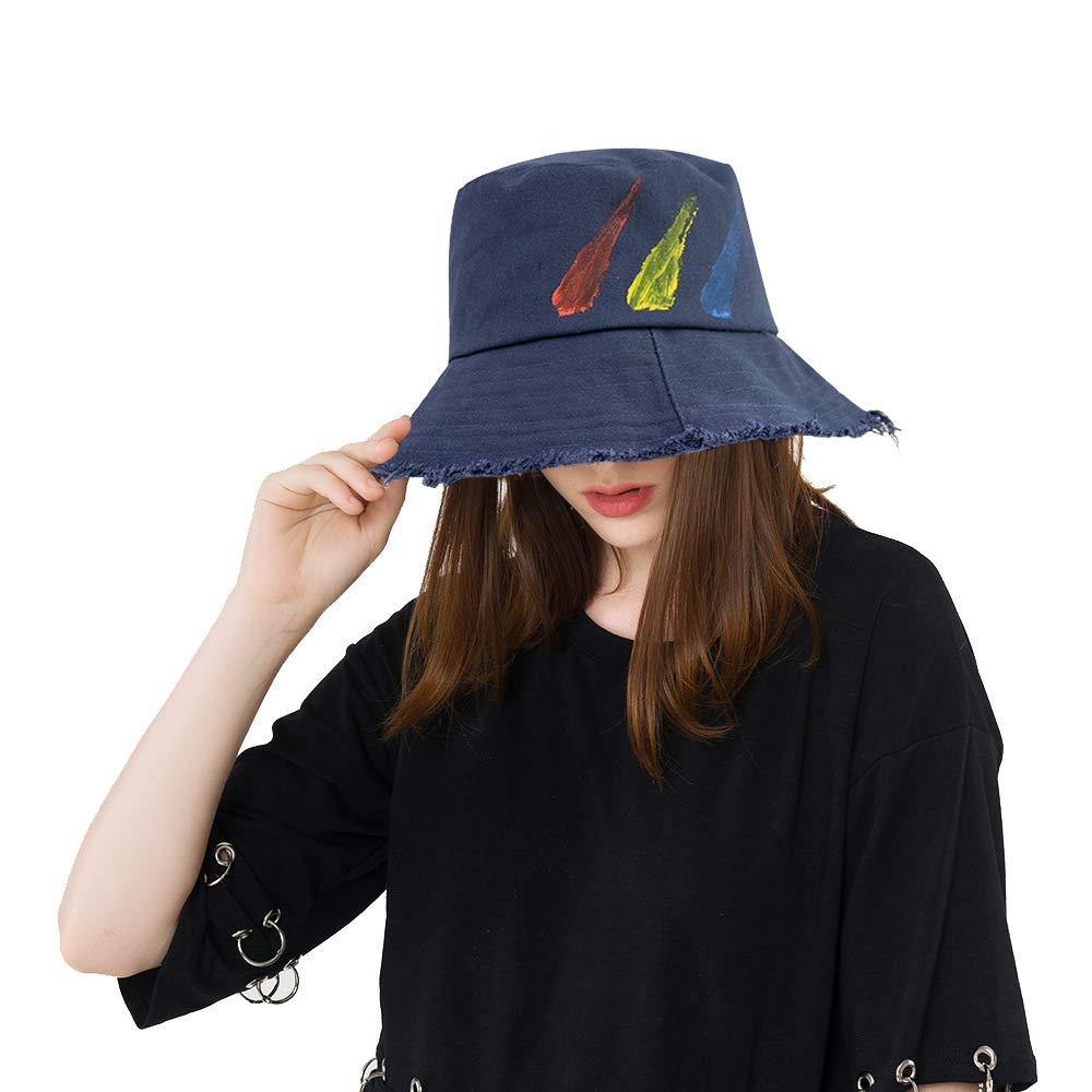 DOCILA Summer Floppy Sun Cap Soft Cotton Bucket Fisherman Hats for Adult (Navy)