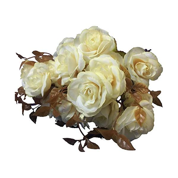 KAYAN-7-Branch-21-Heads-Artificial-Silk-Fake-Flowers-Leaf-Rose-Wedding-Floral-Decor-Bouquet-for-Home-Garden-Party-Wedding-Decoration-White