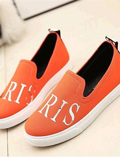 Orange mocasines Uk6 Cn39 Uk7 De Gyht Blue Naranja Eu39 Azul tacón Royal us9 Rojo negro tela exterior Cn41 Plano Eu40 Zq Casual Zapatos Mujer us8 comfort FxZwq40S4
