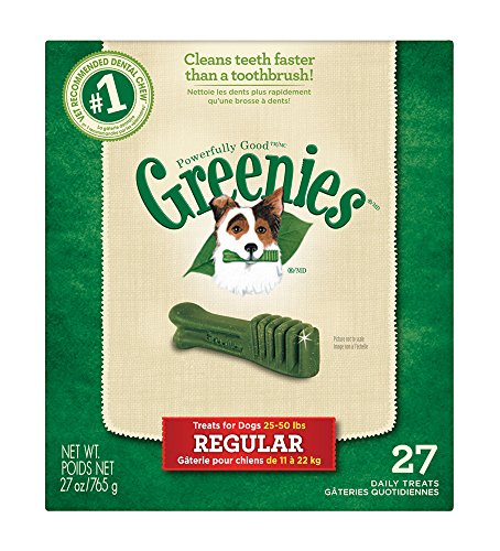 Greenies Dental Chews for Dogs Regular Pack of 27