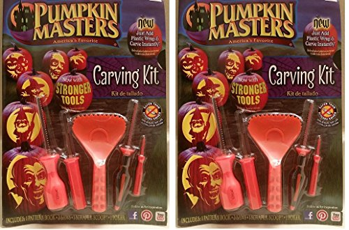 Printable Pumpkin Patterns (Pumpkin Masters America's Favorite Pumpkin Carving Kit (Pack of 2))
