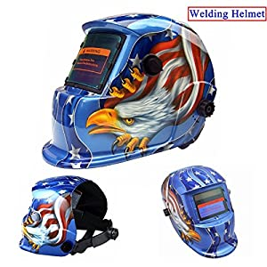 Welding Masks, AUDEW Auto Darkening Welding Helmet Eagle Solar Adjustable Welder Helmets CE ANSI Certified by AUDEW