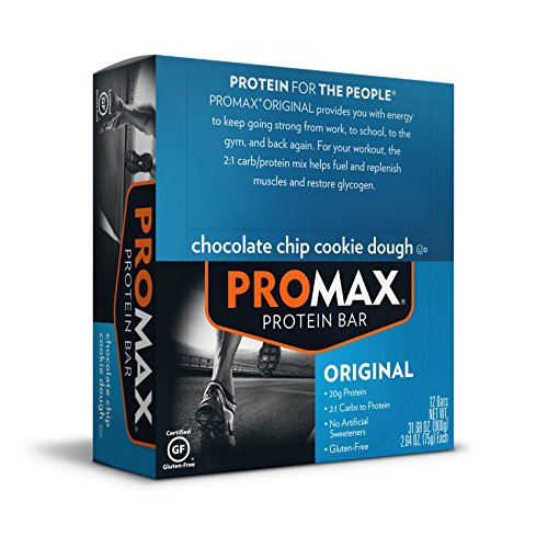 Promax Protein Bar, Chocolate Chip Cookie Dough, 12-Pack