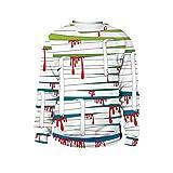 iTLOTL Couple 3D Blood Bandage Print Halloween Long Sleeve Hoodie Sweater Top(Blue,US-12/CN-L)