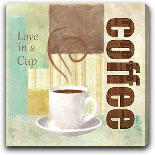 """LOVE IN A CUP by Taylor Greene - 24"""" x 24"""" Gallery Wrapped Premium Canvas Print"""
