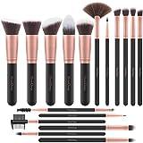 EmaxDesign Makeup Brushes 17 Pieces Premium Synthetic Foundation Brush Powder Blending Blush...