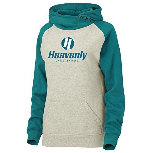 Ouray Sportswear Women's Heavenly Resort Asym Redux Hoodie, Oatmeal/Ocean Depths Heather, X-Large