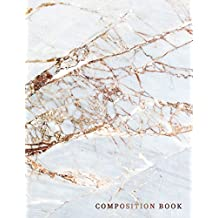 Composition Book: Marble + Gold Wide Ruled Notebook | 110-Page Marble Large Lined Journal for Doodling Journaling Writing Notes | 8.5 X 11 Glossy Softback Cover