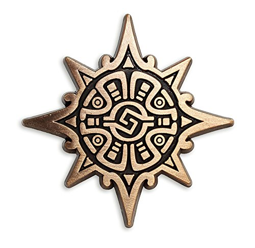 Pinsanity Aztec Warrior Symbol Lapel Pin
