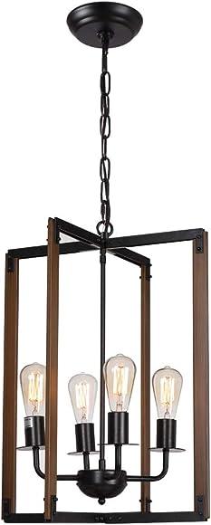 18 Geometric Pendant Lighting Wood Square Pendant Light Hanging Lamp
