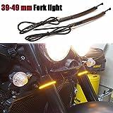 #6: Motorcycle LED light fork 39mm-49mm Fork Turn Signal harley sportster fork light smoke Lens Victory fork ring turn signal lights