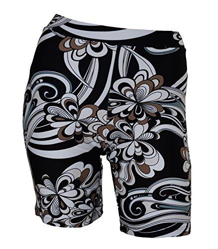 Private Island Hawaii Women UV Rash Guard Skinny Shorts Pants Leggings, Workout Outdoor Yoga/Fitness/Running Clothing (Medium, Pucci)